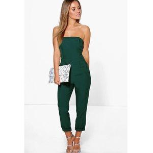 Pants - Green Strapless pants Jumpsuit